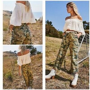 Free People We the Free Remy Camo Jeans NWT 24